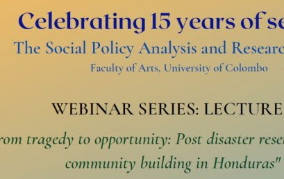 """Webinar Series – Lecture 2 – """"From tragedy to opportunity"""" -30th April"""