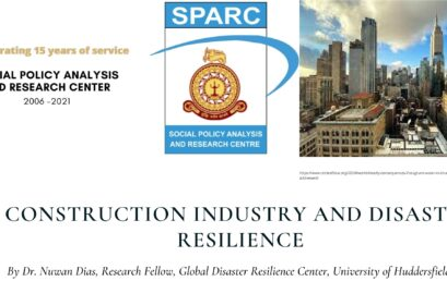 Guest Lecture on 'Construction and Disaster Resilience' – 10th Sept.
